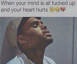 hurt, chris brown, and quotes image