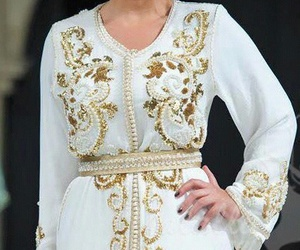 beautiful, white, and caftan image