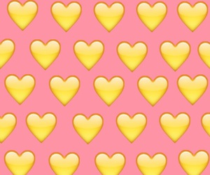 background, heart, and yellow image
