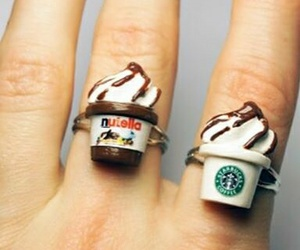 nutella, starbucks, and rings image
