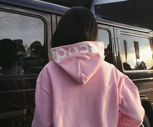 pink, girl, and tumblr image