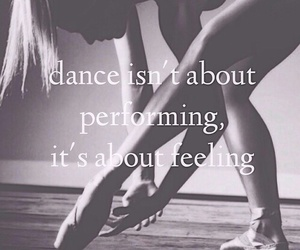 dance, feeling, and ballet image