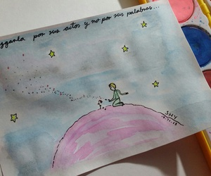 dibujo, the little prince, and watercolor image