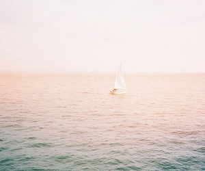sea, water, and boat image