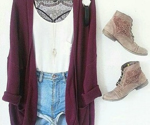 boots, bralette, and burgundy image