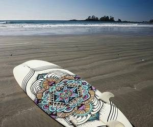 beach, sun, and surf image