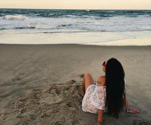 sand, sea, and bruna vieira image