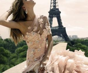 paris, dress, and pink image