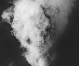 smoke, black, and grunge image