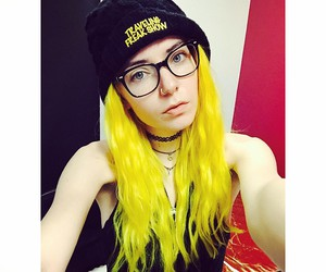 dyed hair, yellow hair, and neon hair image