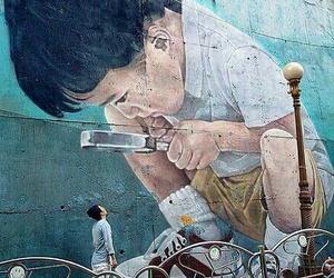 art, street, and boy image