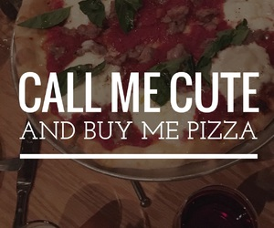 pizza, cute, and food image