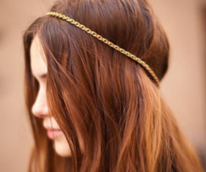 brown, gold, and hair image