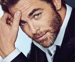 blue eyes, boy, and chris pine image