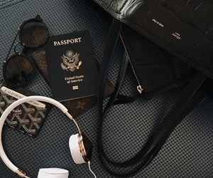 travel, passport, and black image