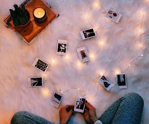 lights, photos, and polaroid image