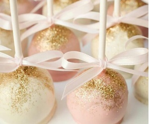 cake, cake pops, and glitter image