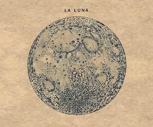 moon, luna, and art image