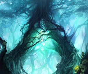 art, tree, and fantasy image