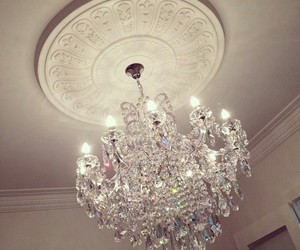 beauty, glamour, and chandelier image