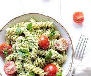 food, pasta, and vegetarian image