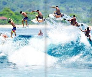 surf, waves, and surfer image