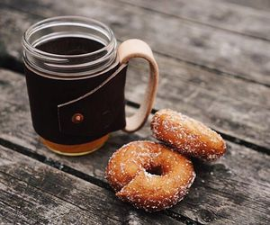 clothes, coffee, and donuts image