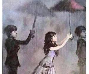 love, rain, and sad image