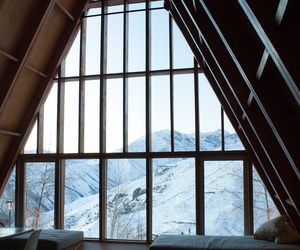mountains, winter, and house image