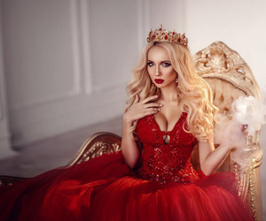 ball gown, beauty, and dress image