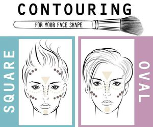 beauty, face, and shape image
