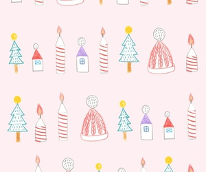 wallpaper, christmas, and pattern image