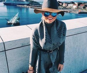 blue, fall, and fashion image