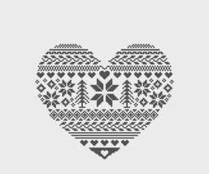 heart, christmas, and wallpaper image