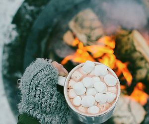 winter, fire, and fall image