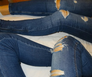 girls, jeans, and pull and bear image