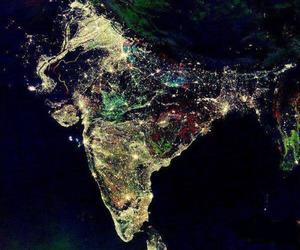 india, light, and night image