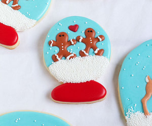 chocolate, Cookies, and snow globe image
