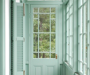 green, mint, and door image