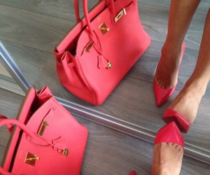 bag, pink, and color image