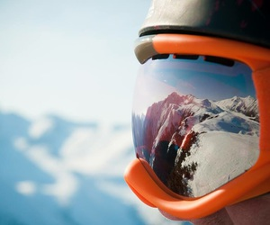 goggles, mountain, and goggles#winter#snow image
