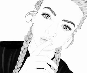 art, braided, and girl image