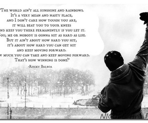 quote, Rocky Balboa, and strong image