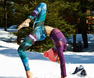 abs, leggings, and winter image
