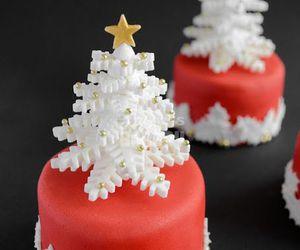 christmas, cake, and christmas tree image