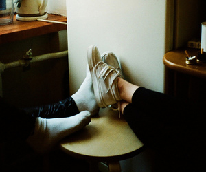 couple, feet, and vintage image