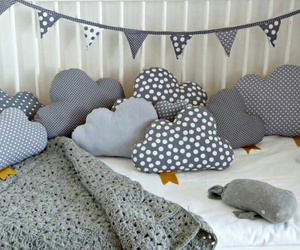 clouds, diy, and pillow image