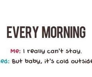 morning, bed, and cold image