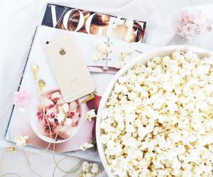 vogue, food, and popcorn image