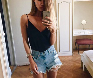 bikini, short, and summer image